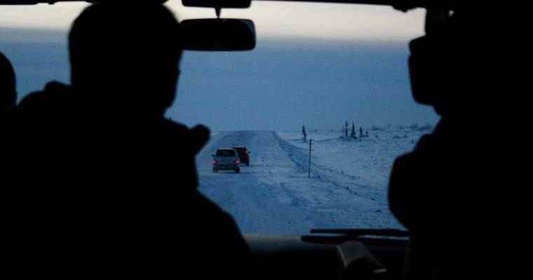 Газпром зимняя автодорога Станция Обская 193 км
