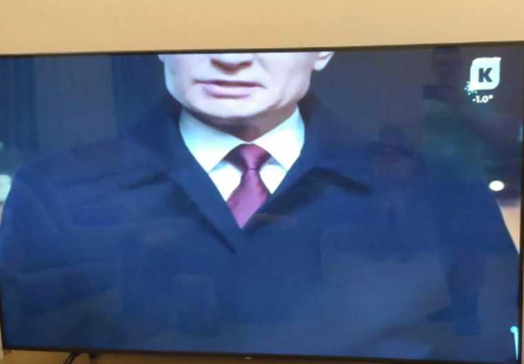 Телеканал накажет работников, испортивших новогоднюю речь Путина. Фото