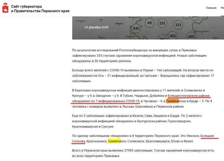В Пермском крае с декабря дают ложную статистику по коронавирусу